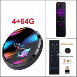 Boîtier de décodeur TV avec double Wifi, système Android 9.0, H96 MAX X3 4 Go 128 Go 8K Amlogic S905X3, 1080P 4K, pour YouTube,