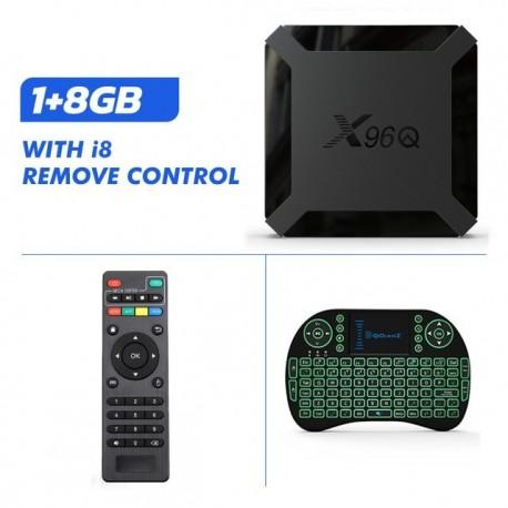 Boîtier TV X96Q android 10 Allwinner H313 Quad Core smart tv android tv 4K Smart tv BOX décodeur lecteur multimédia PK x96 mini